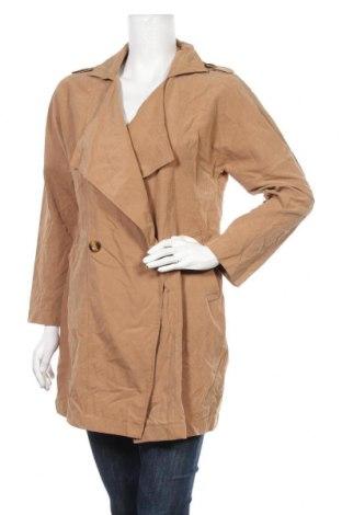 Дамско палто, Размер M, Цвят Кафяв, 90% полиестер, 10% полиамид, Цена 8,94лв.