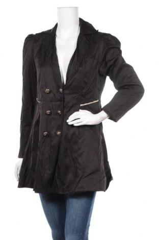 Дамско палто, Размер L, Цвят Черен, Цена 11,29лв.