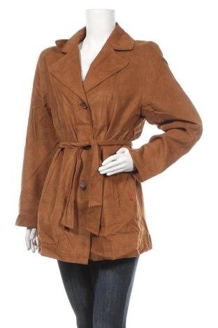 Дамско палто, Размер M, Цвят Кафяв, Полиестер, Цена 9,66лв.