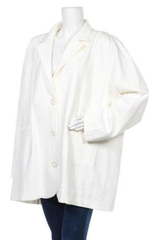 Дамско палто, Размер 3XL, Цвят Екрю, 60% вискоза, 34% полиестер, 6% еластан, Цена 42,21лв.