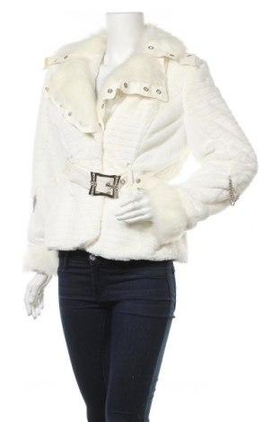 Дамско палто, Размер L, Цвят Бял, 50% памук, 50% полиестер, Цена 52,79лв.
