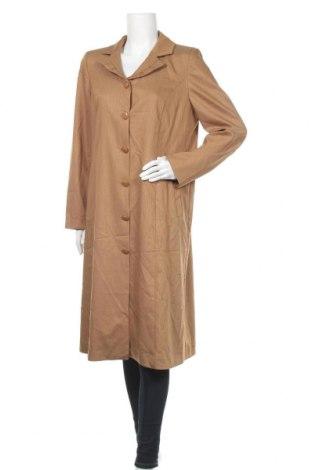Дамско палто, Размер XL, Цвят Кафяв, 66% полиестер, 29% вискоза, 5% еластан, Цена 13,44лв.