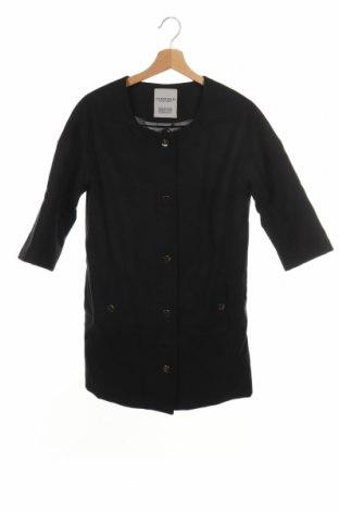 Дамско палто Censured, Размер XS, Цвят Черен, 80% полиестер, 20% вискоза, Цена 107,60лв.