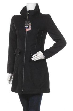 Дамско палто Desigual, Размер M, Цвят Черен, 74% вълна, 23% полиамид, 3% полиестер, Цена 209,25лв.