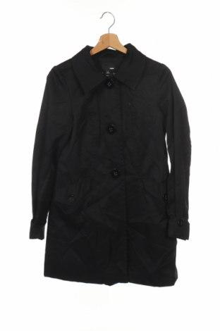 Дамско палто H&M, Размер XS, Цвят Черен, 65% полиестер, 35% памук, Цена 27,09лв.