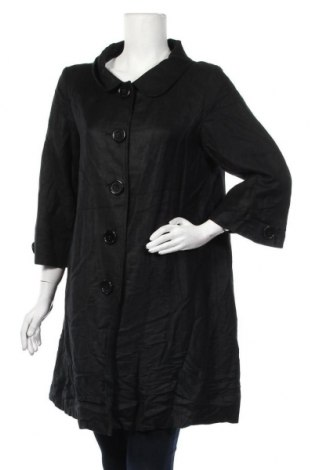 Дамско палто H&M, Размер M, Цвят Черен, 55% лен, 45% вискоза, Цена 12,08лв.
