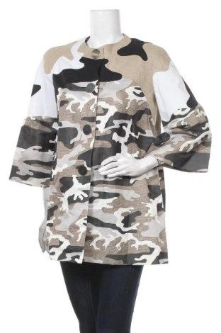 Дамско палто JC de Castelbajac, Размер L, Цвят Многоцветен, 60% лен, 40% полиестер, Цена 351,60лв.