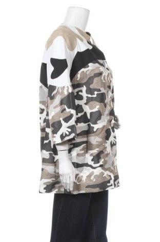 Дамско палто JC de Castelbajac, Размер L, Цвят Многоцветен, 60% лен, 40% полиестер, Цена 202,17лв.