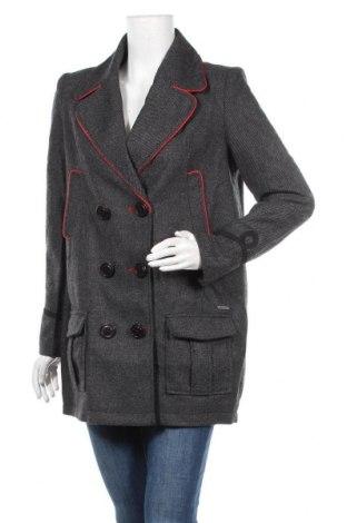 Γυναικείο παλτό Kaporal, Μέγεθος M, Χρώμα Γκρί, 65% πολυεστέρας, 15%ακρυλικό, 14% μαλλί, 3% βαμβάκι, 3% άλλα υφάσματα, Τιμή 19,95€