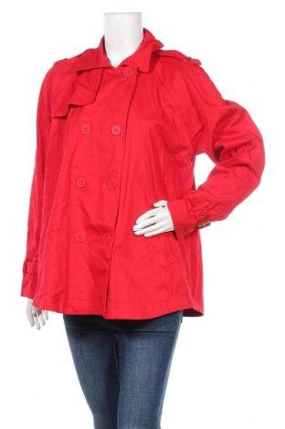 Дамско палто Louis Dell'Olio, Размер L, Цвят Червен, 97% памук, 3% еластан, Цена 25,94лв.