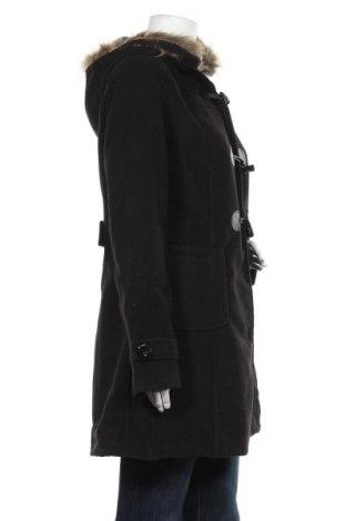Дамско палто Made In Italy, Размер L, Цвят Черен, 85% акрил, 10% полиестер, 5% модал, Цена 32,67лв.
