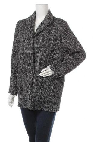 Дамско палто Mango, Размер M, Цвят Бял, 73% полиестер, 24% вълна, 2% акрил, 1% полиамид, Цена 27,41лв.