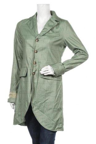 Дамско палто Miss Look, Размер S, Цвят Зелен, Памук, полиестер, Цена 9,32лв.