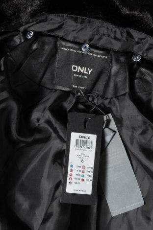 Дамско палто ONLY, Размер S, Цвят Черен, 80% полиестер, 20% вискоза, Цена 33,32лв.