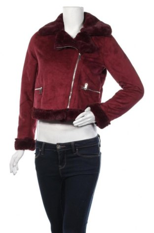 Дамско палто Pull&Bear, Размер S, Цвят Червен, Полиестер, Цена 66,75лв.