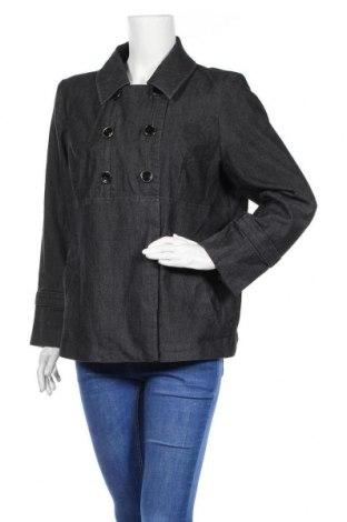 Дамско палто Sandro, Размер XL, Цвят Черен, 77% памук, 20% полиестер, 3% еластан, Цена 49,14лв.