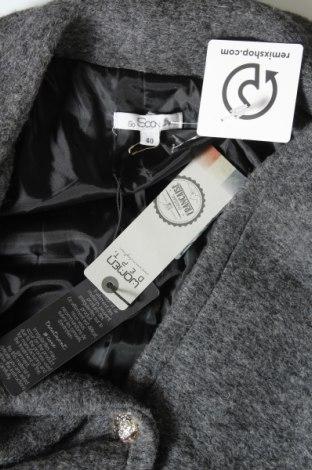 Дамско палто So Soon by Women dept, Размер M, Цвят Сив, 80% вълна, 20% полиестер, Цена 56,62лв.