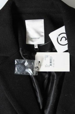 Γυναικείο παλτό Soya Concept, Μέγεθος L, Χρώμα Μαύρο, 70% πολυεστέρας, 30% μαλλί, Τιμή 53,74€
