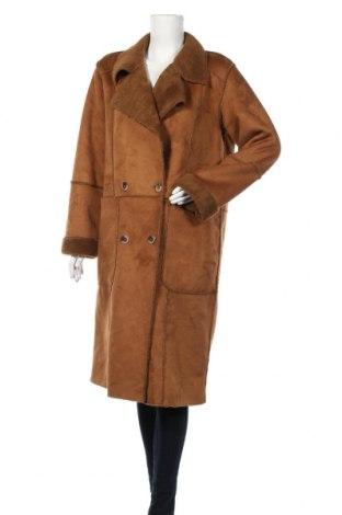 Дамско палто Vila, Размер L, Цвят Кафяв, Полиестер, Цена 54,18лв.
