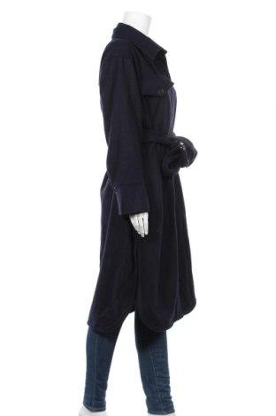 Дамско палто Weekday, Размер S, Цвят Син, 64% вълна, 35% полиестер, 1% акрил, Цена 111,75лв.