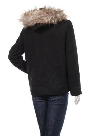 Дамско палто Zara, Размер M, Цвят Черен, 88% полиестер, 10% вискоза, 2% еластан, Цена 34,27лв.
