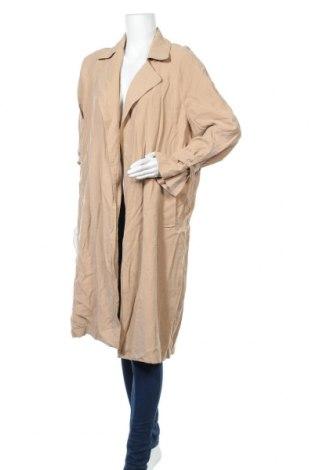 Дамски шлифер Zara, Размер S, Цвят Бежов, Цена 11,81лв.