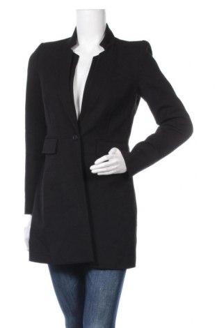 Дамско палто Zara, Размер M, Цвят Черен, Цена 44,42лв.