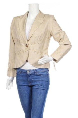 Дамско сако, Размер M, Цвят Бежов, 60% коприна, 40% памук, Цена 35,44лв.