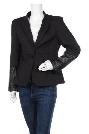Дамско сако, Размер M, Цвят Черен, 48% памук, 48% полиестер, 4% еластан, Цена 10,29лв.