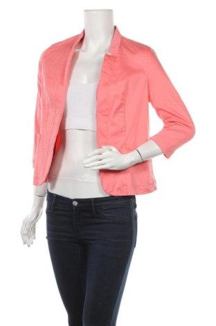 Дамско сако Amisu, Размер M, Цвят Розов, 97% памук, 3% еластан, Цена 53,76лв.