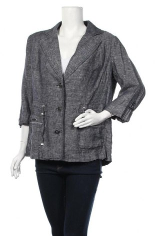 Дамско сако C&A, Размер XL, Цвят Син, Лен, Цена 23,63лв.
