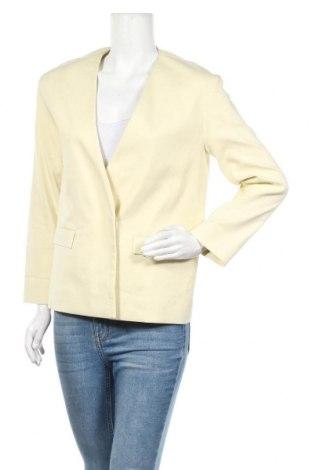 Дамско сако COS, Размер S, Цвят Жълт, 84% памук, 12% полиамид, 4% еластан, Цена 52,92лв.