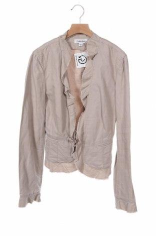 Дамско сако Calvin Klein, Размер XS, Цвят Розов, 65% памук, 35% лен, Цена 41,58лв.