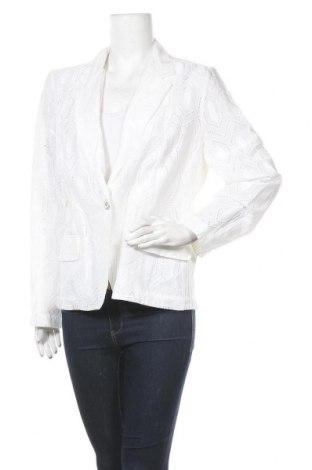 Дамско сако Chico's, Размер L, Цвят Бял, Памук, Цена 19,43лв.