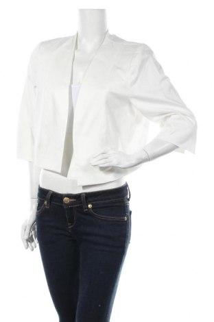 Дамско сако Comma,, Размер XL, Цвят Бял, 98% памук, 2% еластан, Цена 55,47лв.