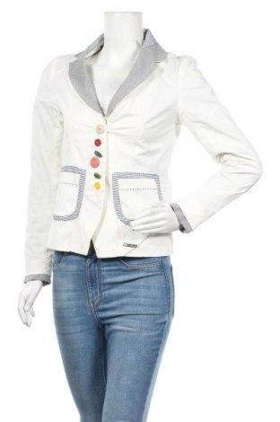 Дамско сако Desigual, Размер S, Цвят Бял, 59% памук, 36% полиамид, 5% еластан, Цена 68,83лв.