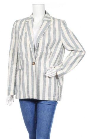 Дамско сако Even&Odd, Размер L, Цвят Екрю, 55% памук, 22% полиестер, 18% лен, 5% вискоза, Цена 27,00лв.