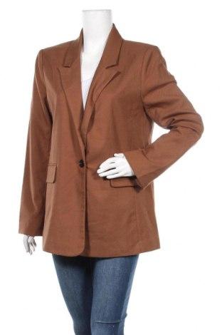 Дамско сако Gina Tricot, Размер L, Цвят Кафяв, 65% полиестер, 33% вискоза, 2% еластан, Цена 15,75лв.