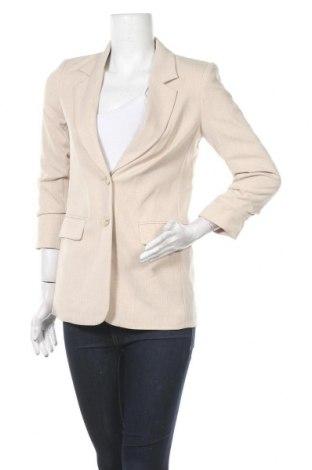 Дамско сако H&M, Размер XS, Цвят Бежов, 71% полиестер, 25% вискоза, 4% еластан, Цена 47,04лв.