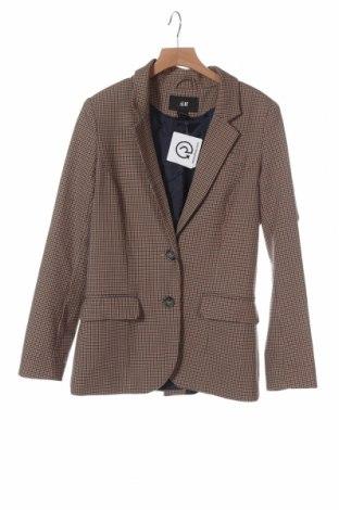 Дамско сако H&M, Размер XS, Цвят Многоцветен, 65% полиестер, 33% вискоза, 2% еластан, Цена 23,10лв.