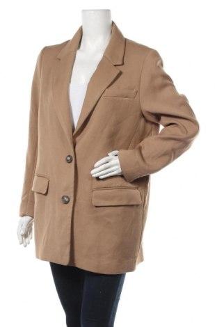 Дамско сако H&M, Размер M, Цвят Кафяв, 66% полиестер, 32% вискоза, 2% еластан, Цена 30,24лв.
