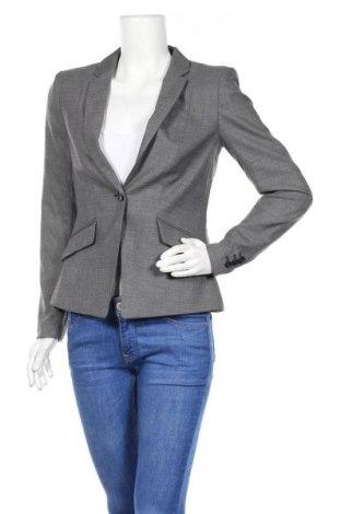 Дамско сако H&M, Размер M, Цвят Сив, 71% полиестер, 28% вискоза, 1% еластан, Цена 14,96лв.