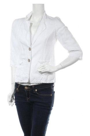 Дамско сако Made In Italy, Размер M, Цвят Бял, Лен, Цена 44,20лв.
