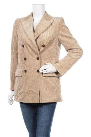 Дамско сако Mango, Размер S, Цвят Бежов, 85% памук, 15% полиестер, Цена 28,56лв.