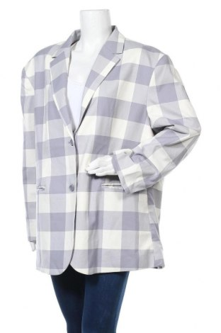 Дамско сако Monki, Размер XL, Цвят Син, 68% полиестер, 30% вискоза, 2% еластан, Цена 28,38лв.