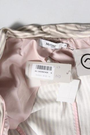 Дамско сако Myrine, Размер S, Цвят Бежов, 97% памук, 3% еластан, Цена 29,50лв.