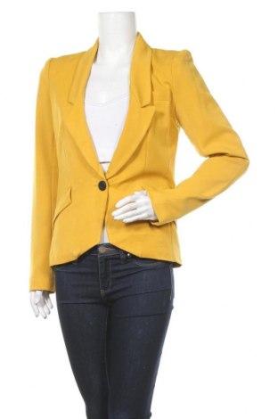 Дамско сако ONLY, Размер M, Цвят Жълт, 62% полиестер, 34% вискоза, 4% еластан, Цена 25,94лв.