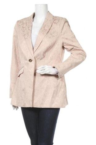 Дамско сако S.Oliver, Размер L, Цвят Бежов, 50% памук, 47% полиестер, 3% еластан, Цена 23,21лв.