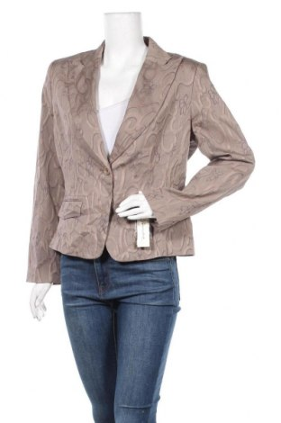 Дамско сако Tempo Paris, Размер XL, Цвят Кафяв, 70% памук, 28% полиестер, 2% еластан, Цена 55,97лв.