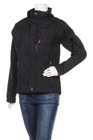 Дамско спортно яке, Размер S, Цвят Черен, Полиестер, Цена 33,92лв.